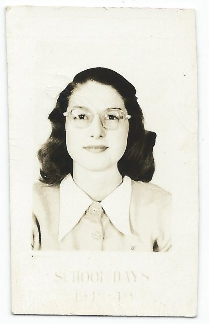 Diane Miley, 1948-1949 school photo.