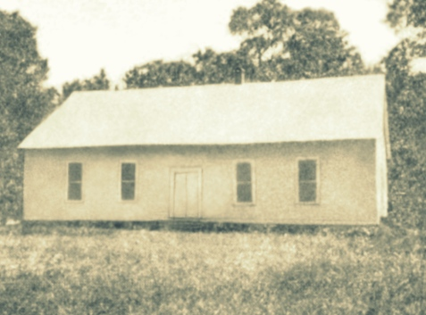Flat Creek Primitive Baptist Church, Berrien County, GA.  Bradford Ray, Martha J Ray, and Rachel Sirmans Bailey were among the members of the church. Flat Creek was the site at which Berrien County was organized, February 25, 1856 following the creation of the county by the state legislature. Image courtesy of http://berriencountyga.com/