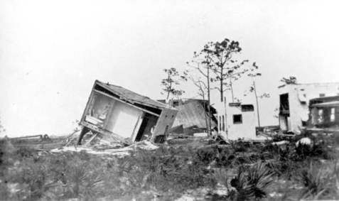 Fort Lauderdale, FL building destroyed by hurricane. Photographed on September 18, 1926. Image courtesy of State Archives of Florida, Florida Memory, http://floridamemory.com/items/show/3048