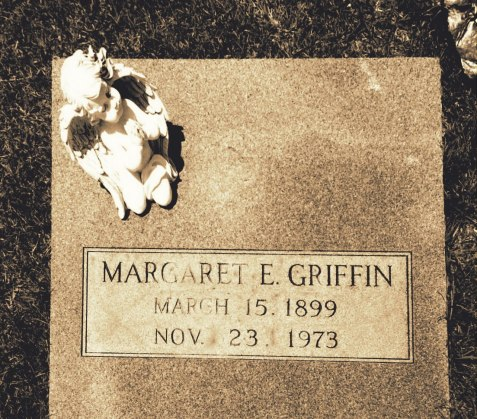 Grave of Margaret Elizabeth Griffin (1899 -  1973), Brushy Creek Cemetery, Berrien County, GA