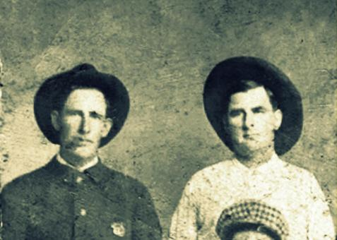 Ray City Police Officers, Cauley and Bruner Shaw.  Image detail courtesy of www.berriencountyga.com