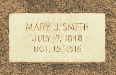 Grave of Mary Jane Whitehurst Smith, Old City Cemetery, Nashville, GA