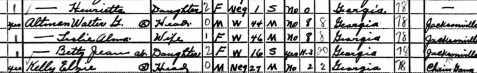 1940 census enumeration of Walter G. Altman