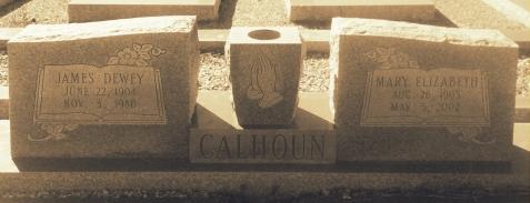 Graves of James Dewey Calhoun and Mary Elizabeth Brogdon, Beaver Dam Cemetery, Ray City, GA