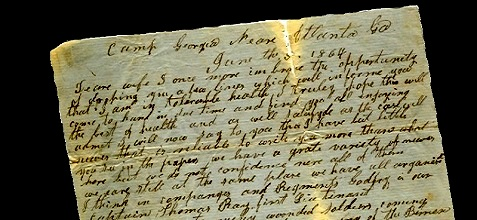 June 5, 1864 letter from James Parrish to his wife. Full image available at www.berriencountyga.com
