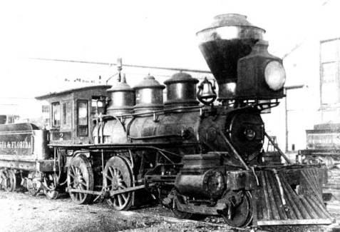 An Engine of the Georgia & Florida Railroad.  State Archives of Florida, Florida Memory, http://floridamemory.com/items/show/147454