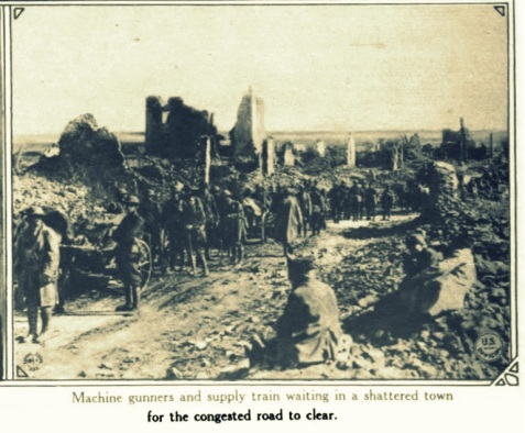 Machine gunners and supply trains at St. Mihiel