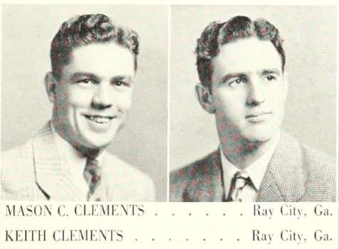 Mason and Keith Clements attended Georgia Teachers College, now Georgia Southern University, in 1948.