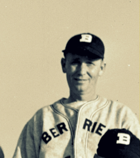 Preacher Shaw in uniform of the Berrien Blue Jays, 1948.   Image courtesy of www,berriencountyga.com