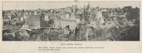 Effects of artillery shelling, Montdidier, France, WWI
