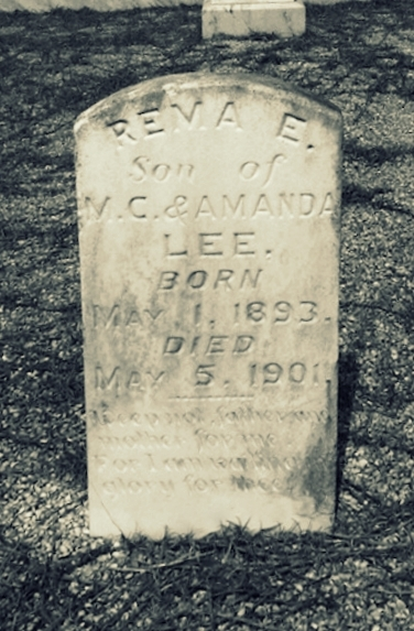 Grave of Rema Lee, Union Church Cemetery, Lanier County GA