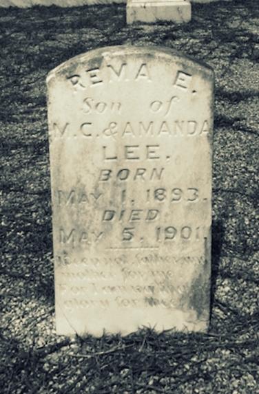 Grave of Rema Lee, Union Church Cemetery, Lanier County GA