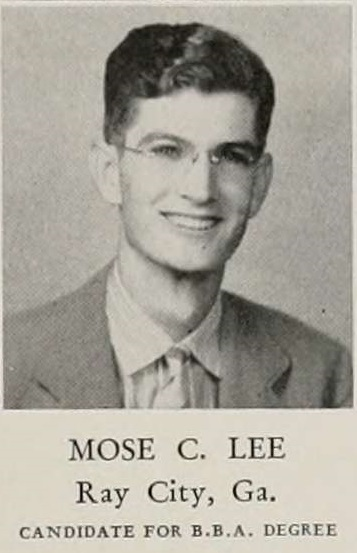 Moses Clements Lee, of Ray City, attended the University of Georgia.