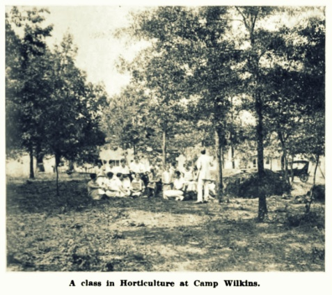 Horticulture class at Camp Wilkins, Athens, GA
