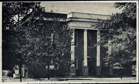 Georgia Normal College and Business Institute at Douglas, GA photographed circa 1920.