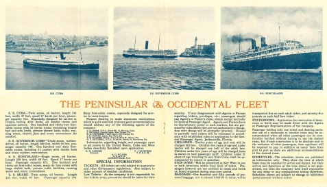 SS Cuba brochure, P&O Steamship Company