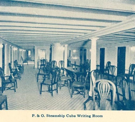 SS Cuba, Writing Room