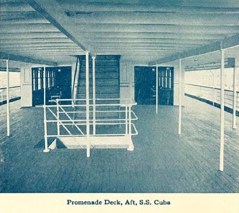 SS Cuba Promenade Deck, Aft