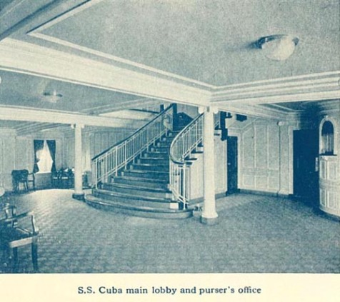 SS Cuba Main Lobby and Purser's Office