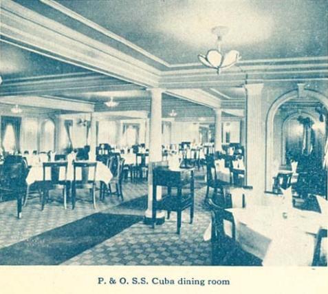 SS Cuba, Dining Room