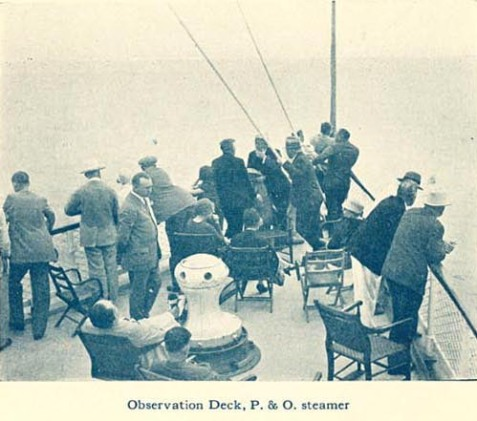 Observation Deck, P&O Steamer
