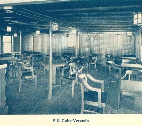 SS Cuba, Veranda