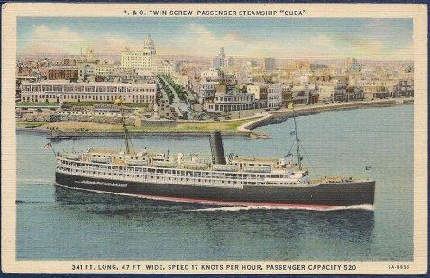 SS Cuba postcard