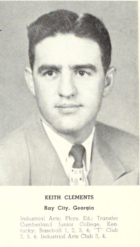 Keith Clements, 1950,  Georgia Teachers College