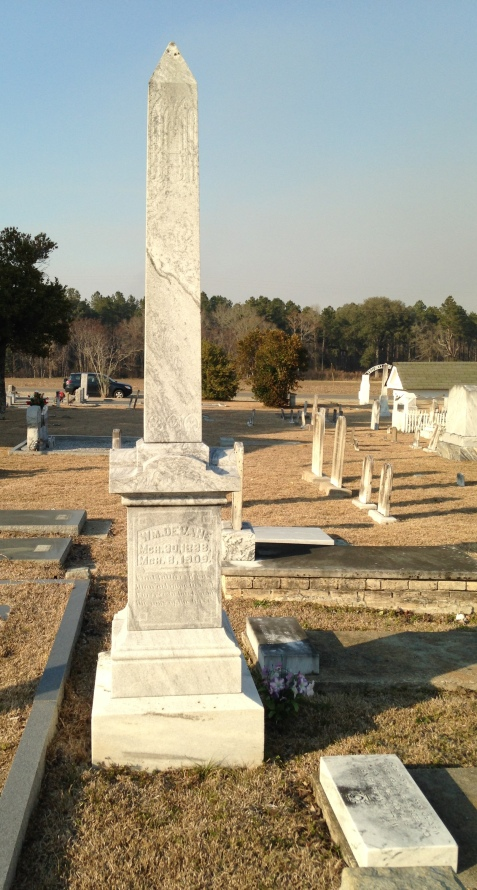 Graves of William DeVane and Sarah Butler DeVane, Pleasant Cemetery, Berrien County, GA