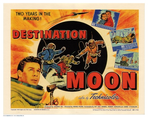 December 7, 1950, Ray City Theater was showing Destination Moon.   Some rights reserved by markbult