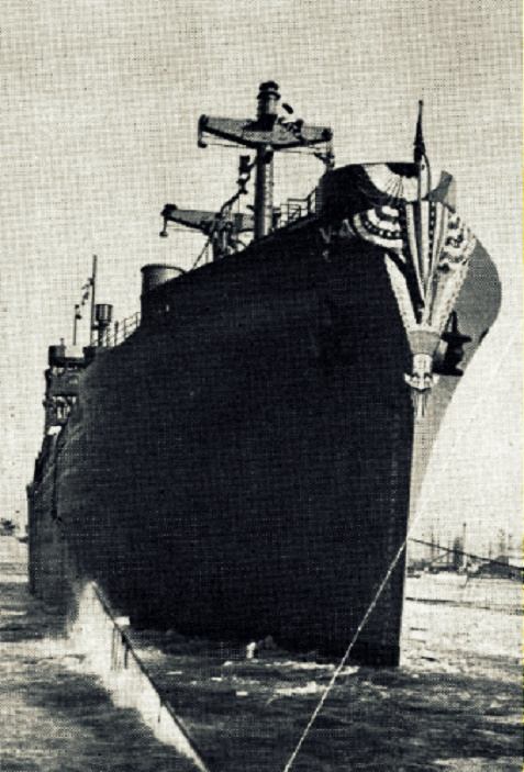SS Wheaton Victory. <br> J.B. Mitchell Sirmans, of Rays Mill, GA was a crew member on the SS Wheaton Victory during the 1940s post-WWII