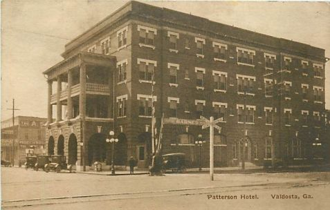 The Patterson Hotel, Valdosta, GA was built in 1912 by Lon Fender and Eugenia Devine.  At the time it was the most luxurious hotel in south Georgia.