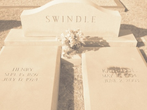 Graves of Ora Kathleen Knight and Henry Alexander Swindle,  New Ramah Cemetery, Ray City, GA.
