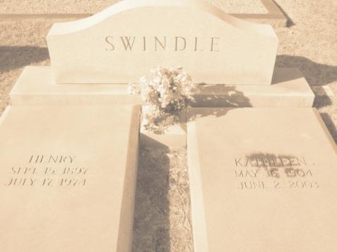 Graves of Ora Kathleen Knight and Henry Alexander Swindle,  New Ramah Cemetery, Ray City, GA.