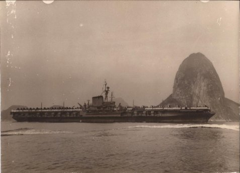 During her shakedown cruise USS Franklin D. Roosevelt (CVB-42) visited Rio de Janeiro, Brazil, 1–11 February 1946. Image: http://www.navsource.org/archives/02/42.htm
