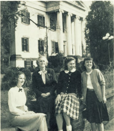 The girls in Mansion Annex live next door to a reminder of our heritage from the past.  Mrs. Smith presides over this dormitory and the officers are L. Johns, F. Bradley, and R.L. Owens.