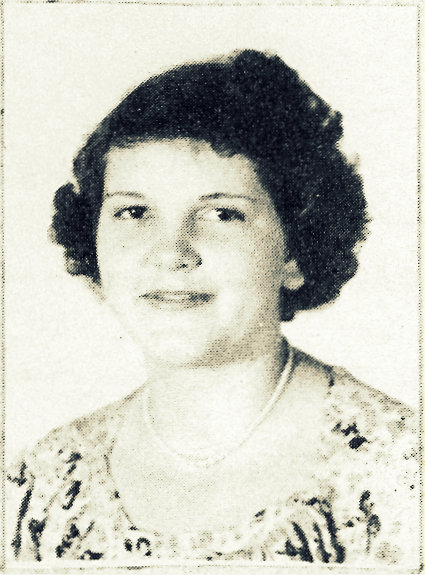 Betty Jean Huff, 1949, Ray City High School