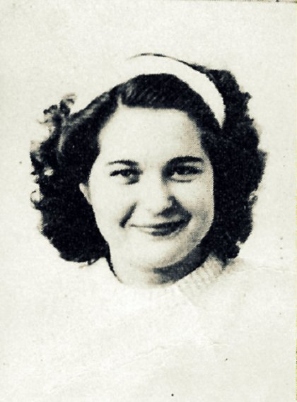 Peggy Johnson, 1949, Ray City High School