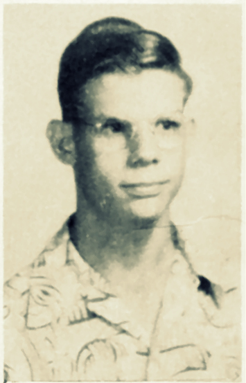Charles McKuhen, 1952-53 school photo, Ray City High School