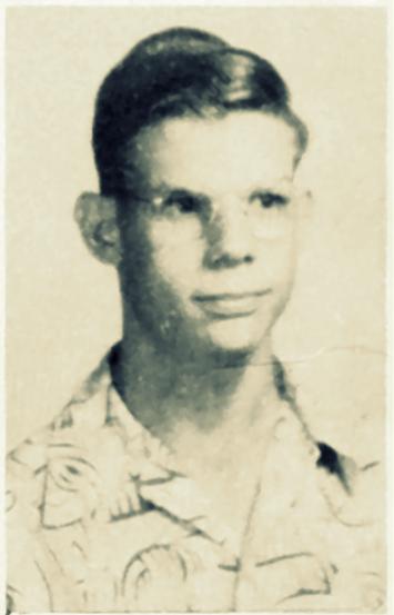 Charles McKuhen, 1952-53 school photo, Ray City High School