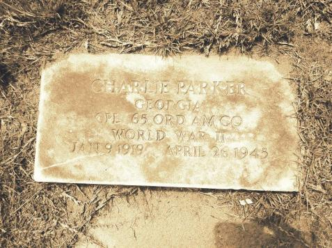 Grave of Charlie Parker (1919-1945), Lakeland, GA <br> CPL 65 ORD AM CO <br> World War II