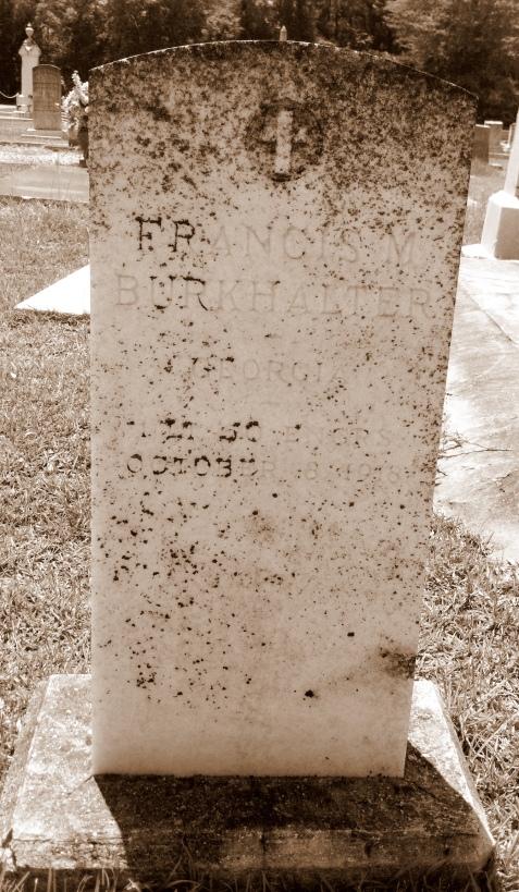 Grave of Francis Marion Burkhalter, Beaver Dam Cemetery, Ray City, GA
