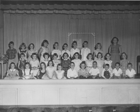 Mrs. Arlo Snead with her 3rd grade class, 1956-57.