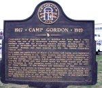 Camp Gordon historic marker, Dekalb County, GA