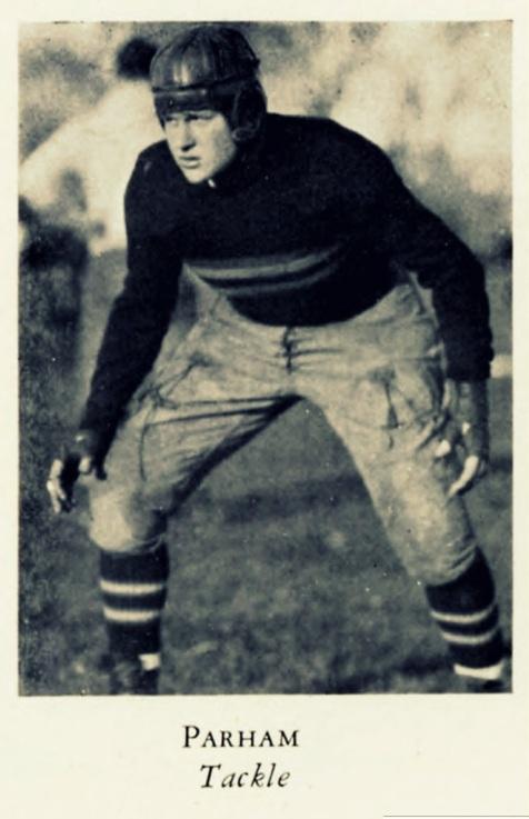 William Lamar Parham. 1929 letterman, Army football team, West Point