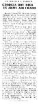 William Lamar Parham killed in plane crash. Atlanta Constitution, March 22, 1932