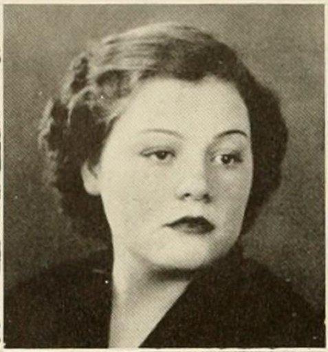 Marie Sirmans, of Nashville, GA. 1938 freshman coed at North Georgia College.