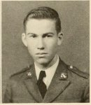 Jamie Connell, 1940 sophomore at NGC. Connell graduated from NGC and enlisted in the Army in 1943, becoming a navigator-bombardier in the U.S. Army Air Force during WWII.