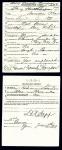 Henry Howard Thompson, Draft registration card, 1917