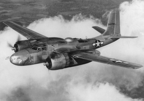 A-26 Invader. Donald Allen Wilson  flew fifty five night combat missions in Korea in A26's.  After 27 1/2 years of service he retired to Ray City, GA with his wife, Juanelle Wilson.